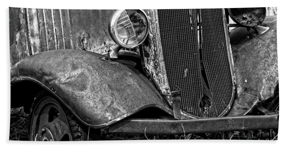Old Farm Truck Hand Towel featuring the photograph Old Farm Truck by Wes and Dotty Weber