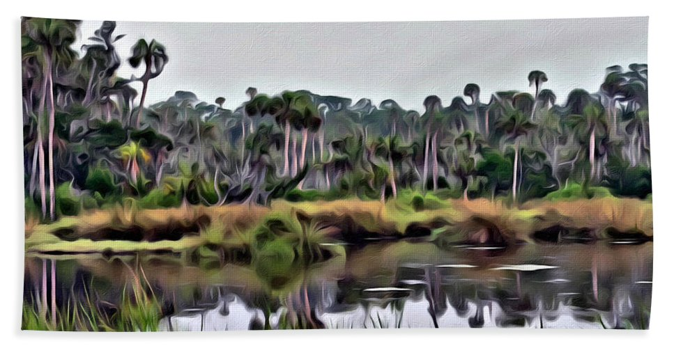 Florida Swamp Scenic Bath Sheet featuring the photograph Old Florida Waterway by Alice Gipson