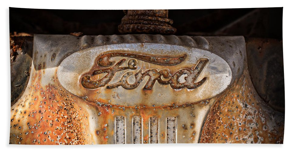 Pillow Hand Towel featuring the photograph Old Ford Square Format by Edward Fielding