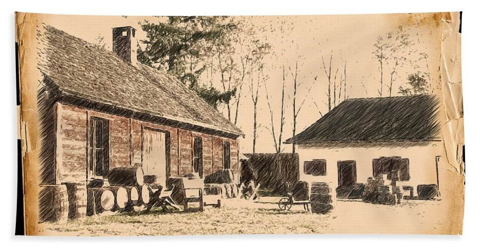 Fort Bath Sheet featuring the photograph Old Fort Langley 1 by Doug Matthews