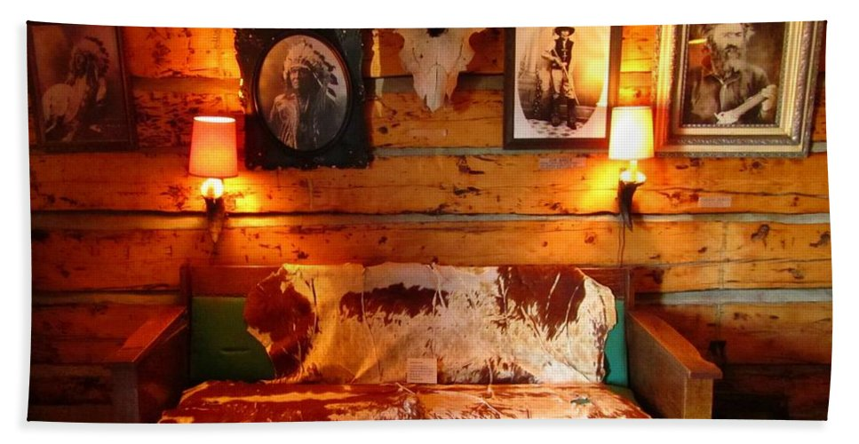 Unique Still Life Art Bath Sheet featuring the photograph Old Frontier Cabin by John Malone