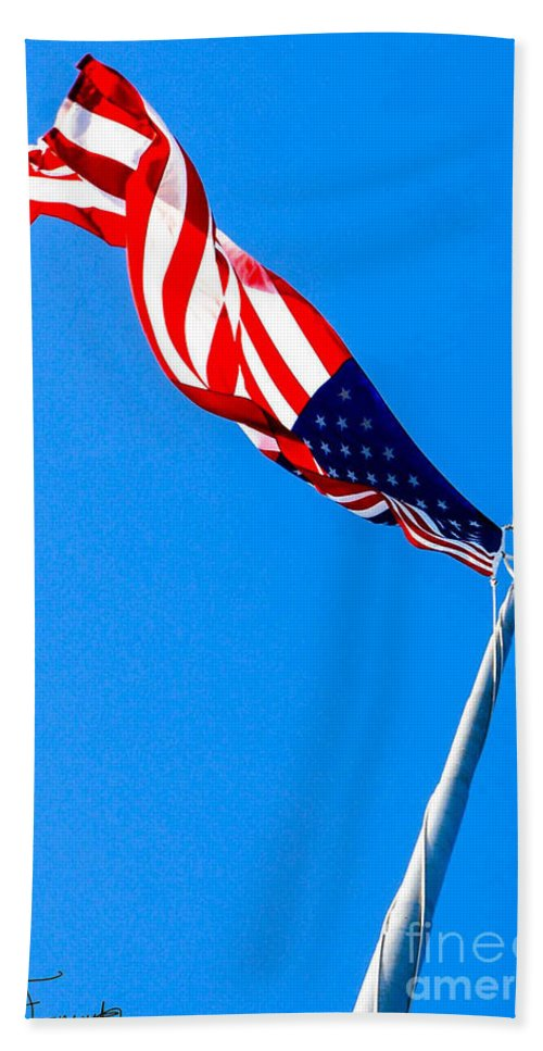 Hdr Hand Towel featuring the photograph Old Glory Hdr by Wesley Farnsworth