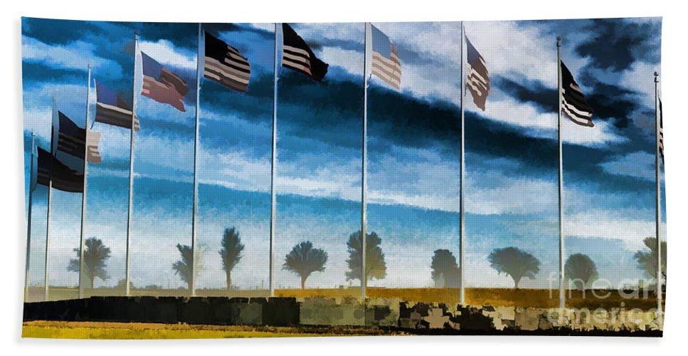 Old Glory-the American Flag Hand Towel featuring the photograph Old Glory-the American Flag by Luther Fine Art