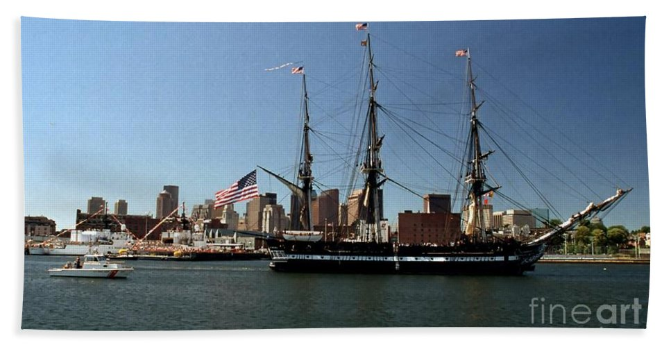 Boston Hand Towel featuring the photograph Old Iron Sides by Kenny Glotfelty