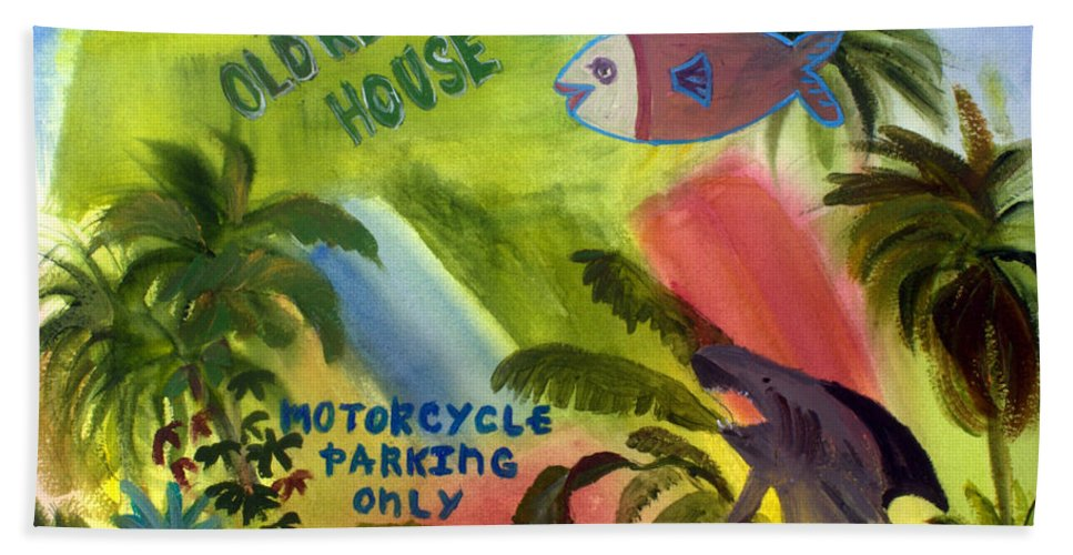 Florida Hand Towel featuring the painting Old Key Lime House by Donna Walsh