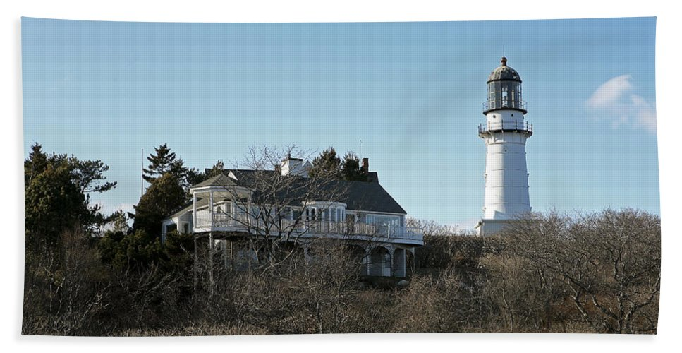 Lighthouse Hand Towel featuring the photograph Old Lighthouse by Eric Swan
