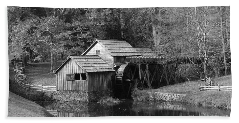 Virginia Hand Towel featuring the photograph Virginia's Old Mill by Eric Liller