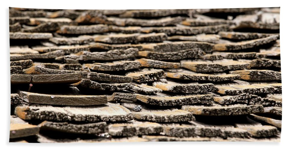 Rotted Bath Sheet featuring the photograph Old Roof by Henrik Lehnerer