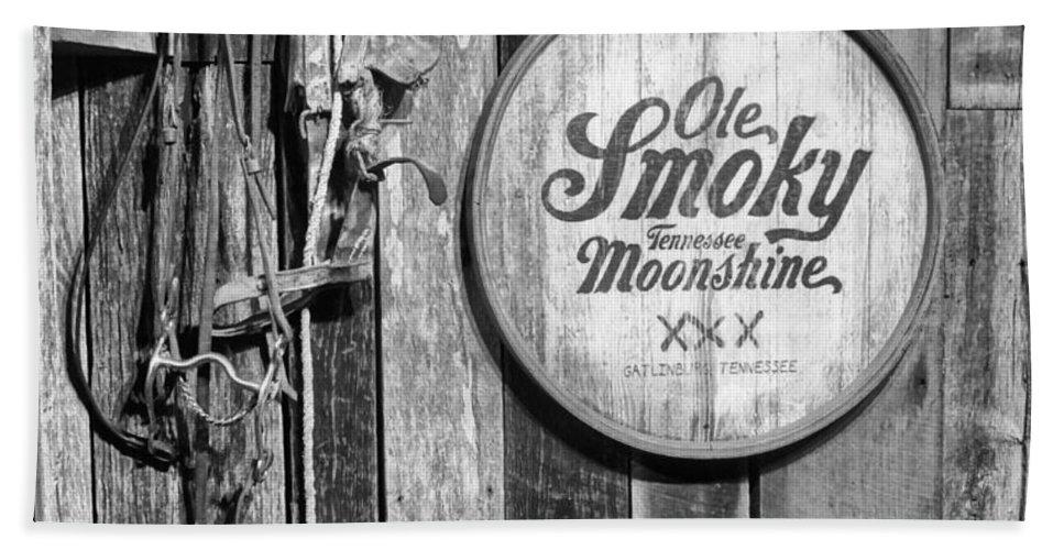 Ole Smoky Moonshine Bath Towel featuring the photograph Ole Smoky Moonshine by Dan Sproul