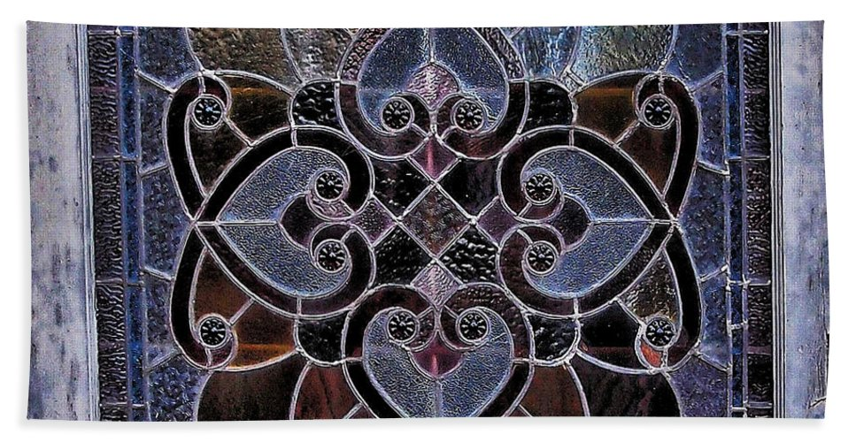 Old Stain Glass Window Bath Sheet featuring the photograph Old Stain Glass Window by Eduardo Palazuelos Romo