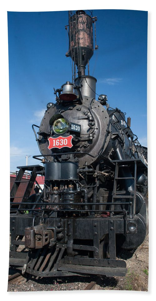 Trains Bath Sheet featuring the photograph Old Steam Engine by Robert Storost