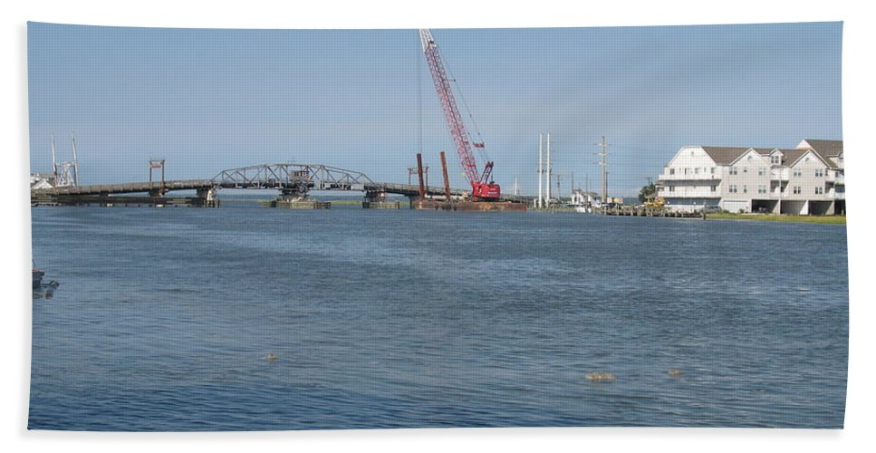 Sound Hand Towel featuring the photograph Old Swing Bridge Chincoteague by Christiane Schulze Art And Photography