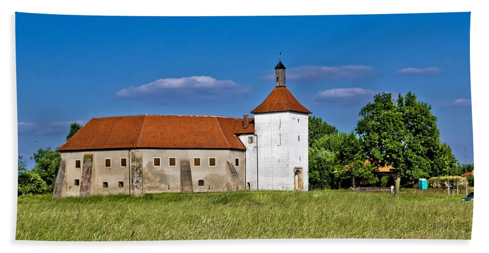Croatia Hand Towel featuring the photograph Old Town Fortress In Durdevac Croatia by Brch Photography