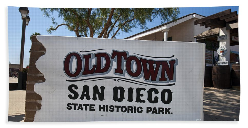 Travel Hand Towel featuring the photograph Old Town San Diego State Historic Park by Jason O Watson