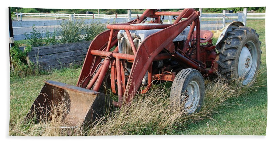Tractor Hand Towel featuring the photograph Old Tractor by Jennifer Ancker