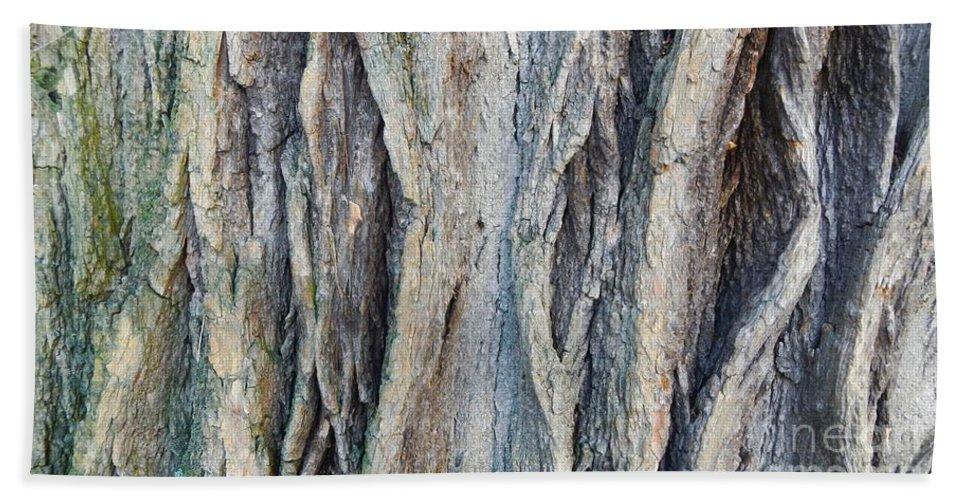 Abstract Hand Towel featuring the photograph Old Tree Wrinkles by Loreta Mickiene