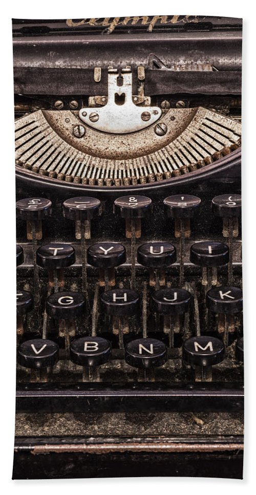 Alphabet Bath Sheet featuring the photograph Old Typewriter by Paulo Goncalves