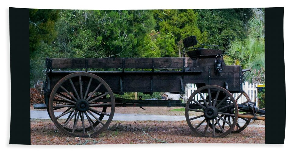 Wagon Hand Towel featuring the photograph Old Wagon by Mechala Matthews