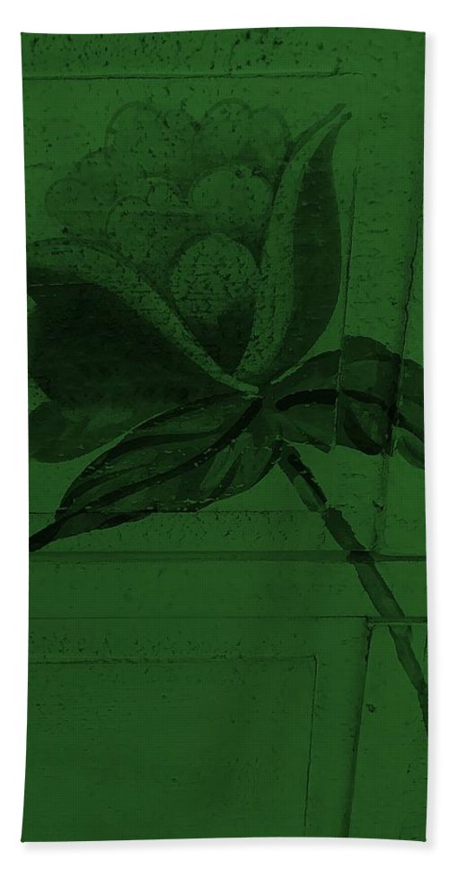 Flowers Hand Towel featuring the photograph Olive Green Wood Flower by Rob Hans