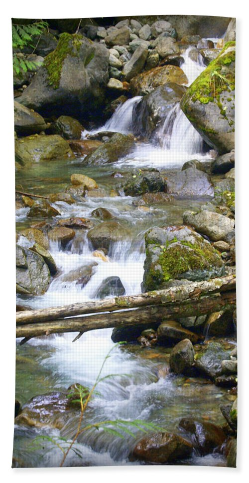 Olympic Mountains Hand Towel featuring the photograph Olympic Range Stream by Marty Koch