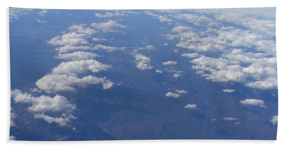 Aerial View Photography Bath Sheet featuring the photograph On A Clear Day You Can See Miles Away by Lingfai Leung
