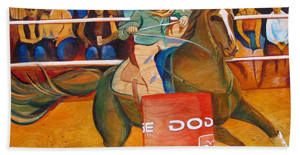 Horse Hand Towel featuring the painting On A Dime by Joshua Morton