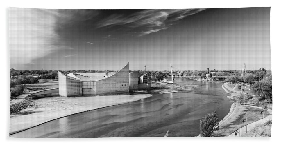Discovery Center Bath Sheet featuring the photograph On The Arkansas by Guy Whiteley