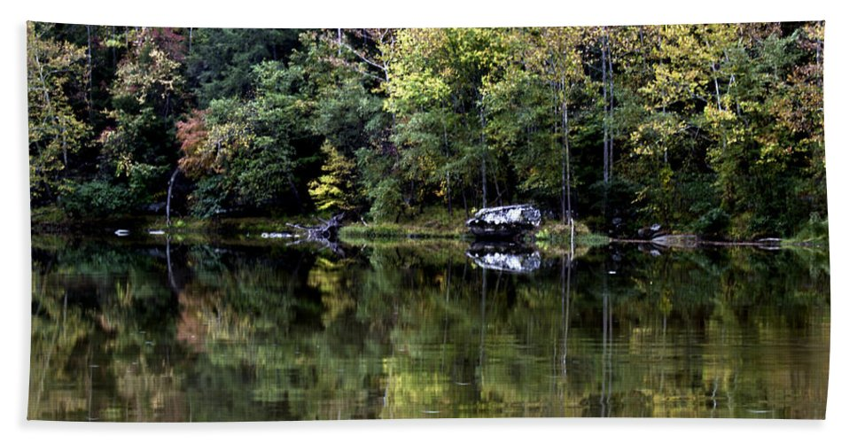 Rural Bath Sheet featuring the photograph On The River Four by Ken Frischkorn