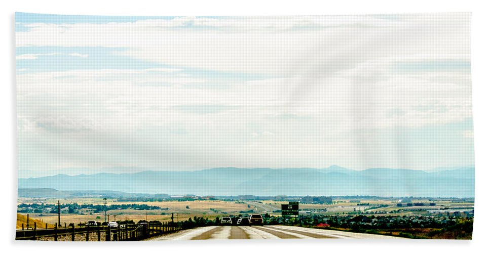 Road Hand Towel featuring the photograph On The Road Again by Amel Dizdarevic