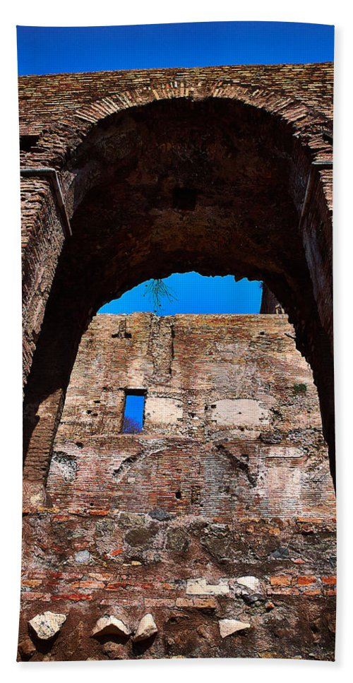 2013. Hand Towel featuring the photograph On The Ruins Of An Emipire by Jouko Lehto
