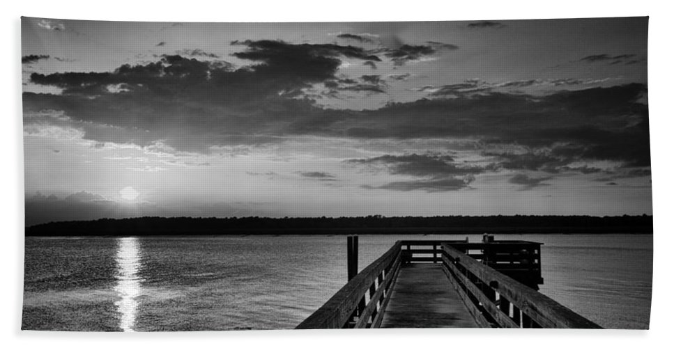 Beaufort County Bath Sheet featuring the photograph On The Waterfront by Phill Doherty