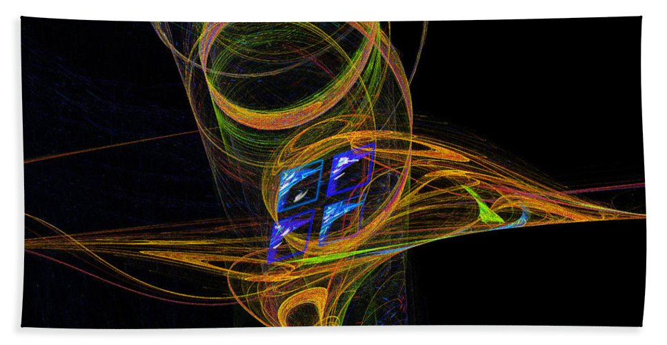 Fractal Bath Sheet featuring the digital art On The Way To Oz by Victoria Harrington