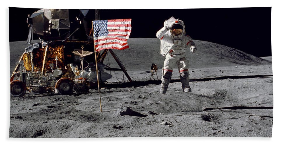 Moon Hand Towel featuring the photograph On Top Of The World by Jon Neidert