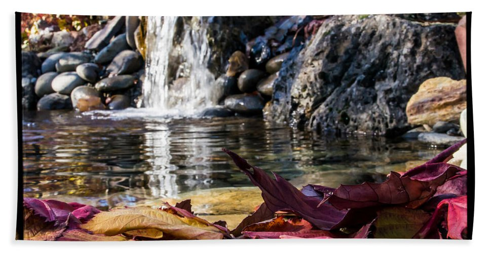 Water Hand Towel featuring the photograph On Waters Edge by Mick Anderson