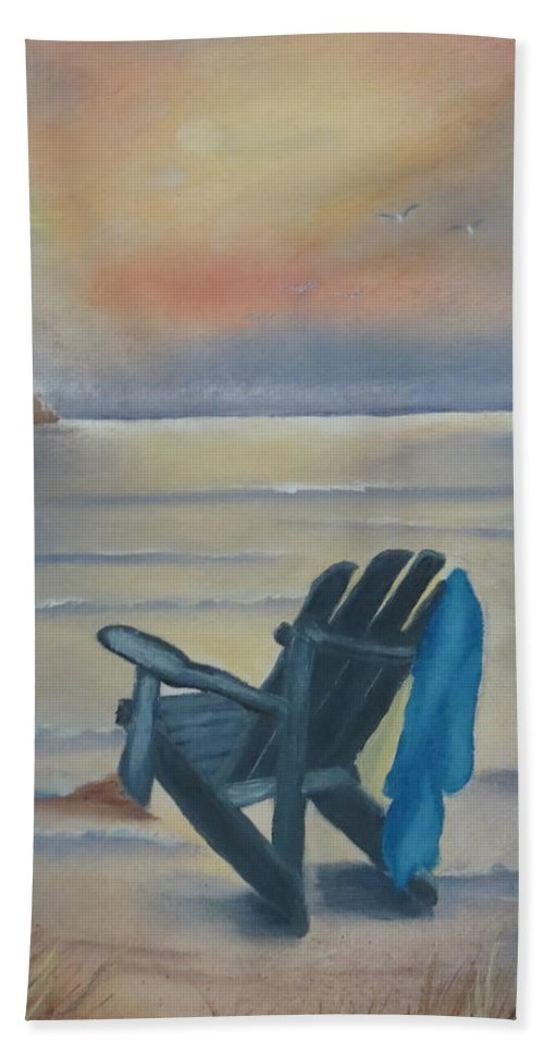 Oil Painting Hand Towel featuring the painting One Is A Lonely Number by Kay Novy