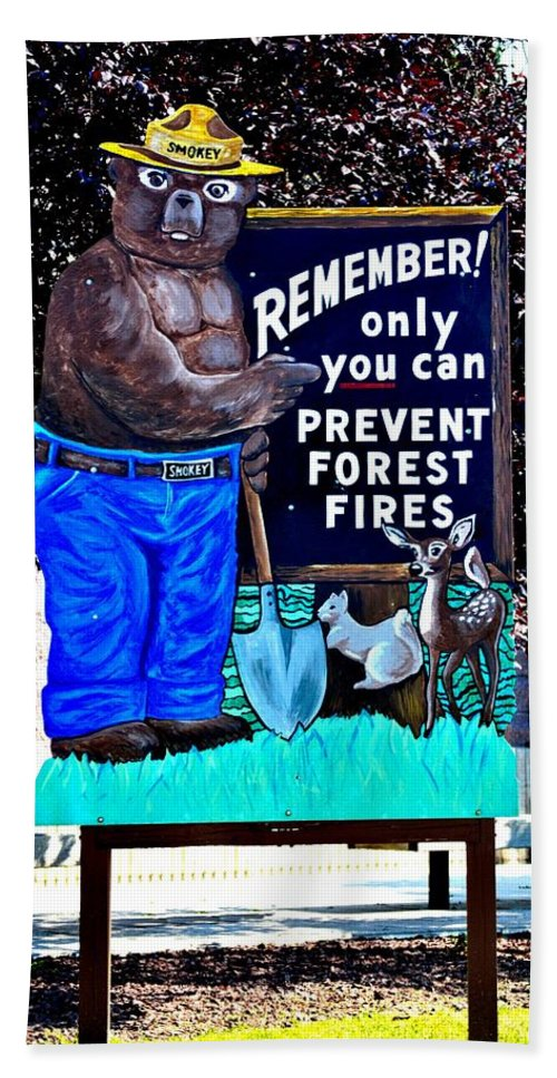 Only You Can Prevent Forest Fires Hand Towel featuring the photograph Only You... by Tara Potts