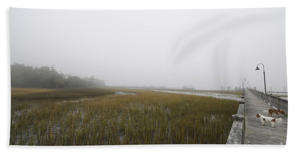 Fog Hand Towel featuring the photograph Opaque Foggy Morning by Dale Powell