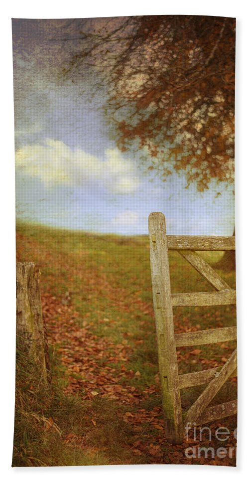 Open Hand Towel featuring the photograph Open Country Gate by Amanda Elwell