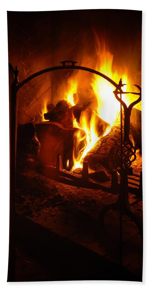 Ash Bath Sheet featuring the photograph Open Fire by Mark Llewellyn
