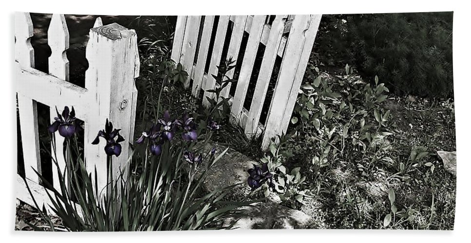 Urban Hand Towel featuring the photograph Open Gate by Chris Berry