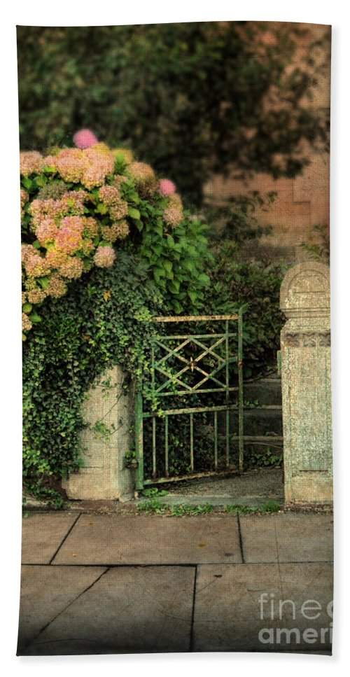 Hand Towel featuring the photograph Open Gate by Jill Battaglia