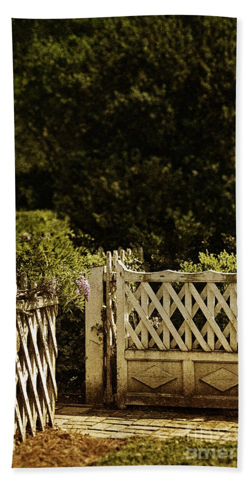Fence Hand Towel featuring the photograph Open by Margie Hurwich