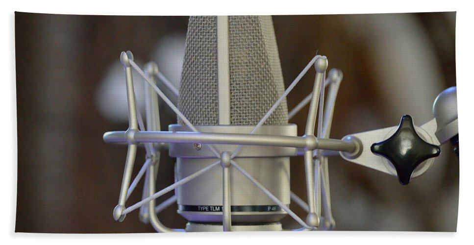 Music Hand Towel featuring the photograph Open Mic Night by Alys Caviness-Gober