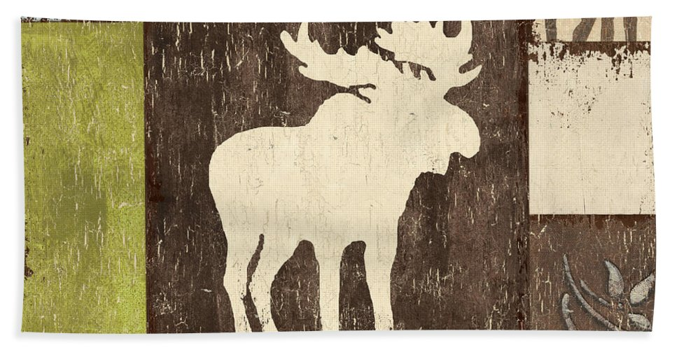 Lodge Bath Sheet featuring the painting Open Season 1 by Debbie DeWitt