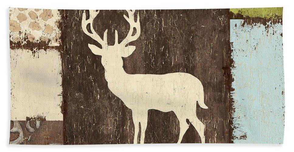 Lodge Bath Sheet featuring the painting Open Season 2 by Debbie DeWitt