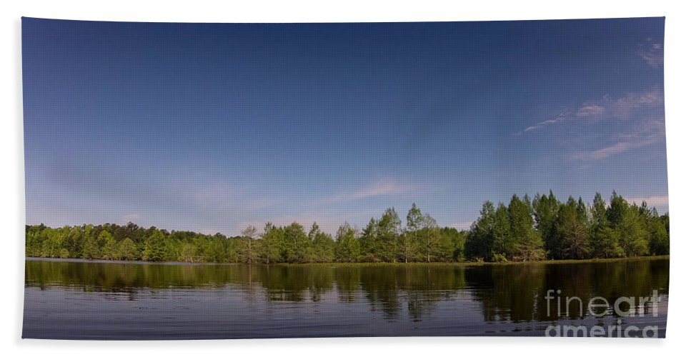 Vernon Lake Hand Towel featuring the photograph Open Water by Ken Frischkorn