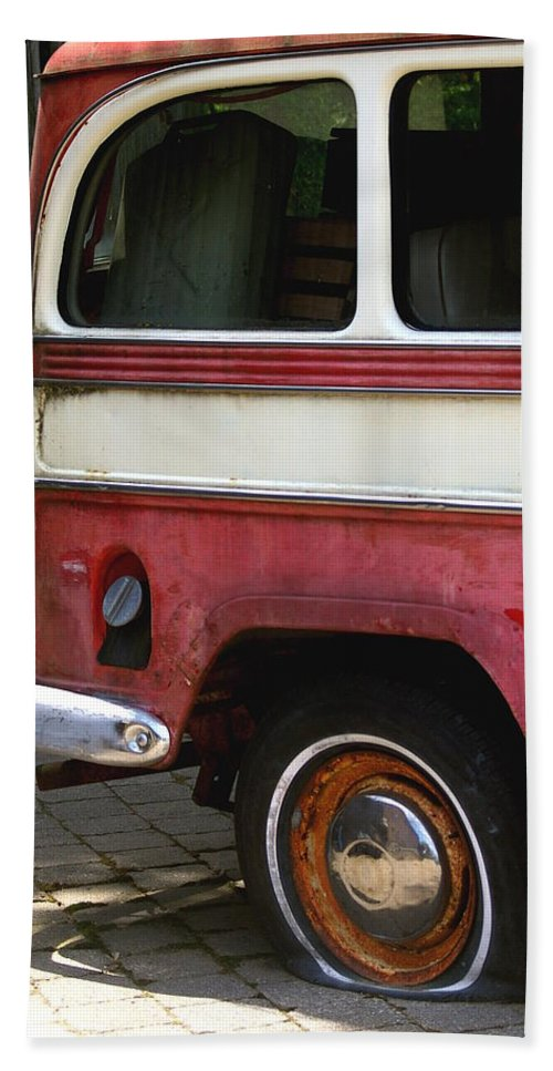 Tire Hand Towel featuring the photograph Opps Flat by Randy Pollard