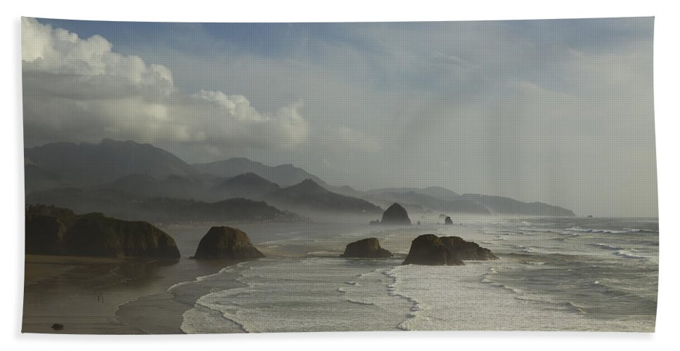 Haystack Bath Sheet featuring the photograph Or Coast Ecola 1 A by John Brueske