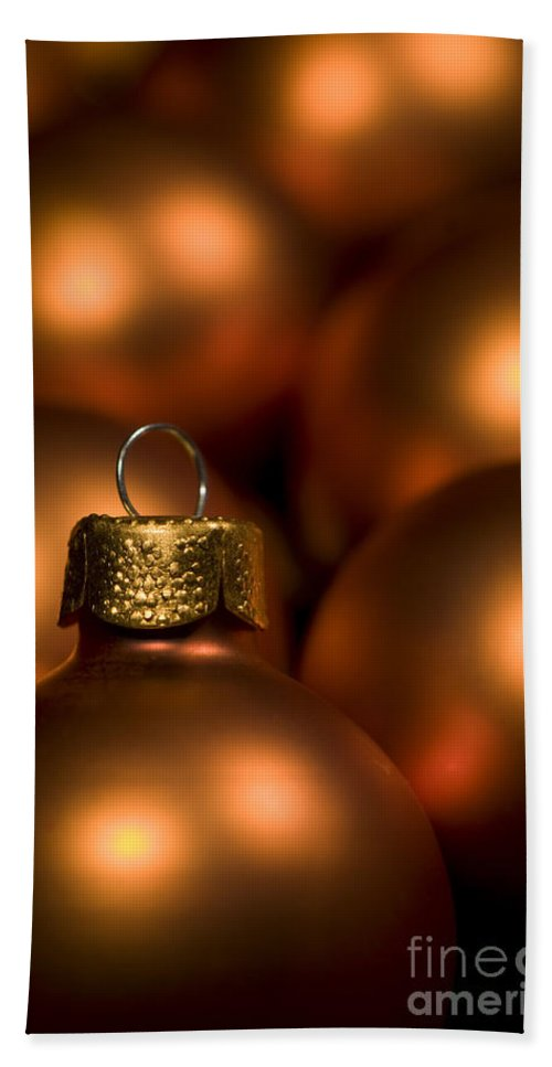 Orange Hand Towel featuring the photograph Orange Baubles by Anne Gilbert