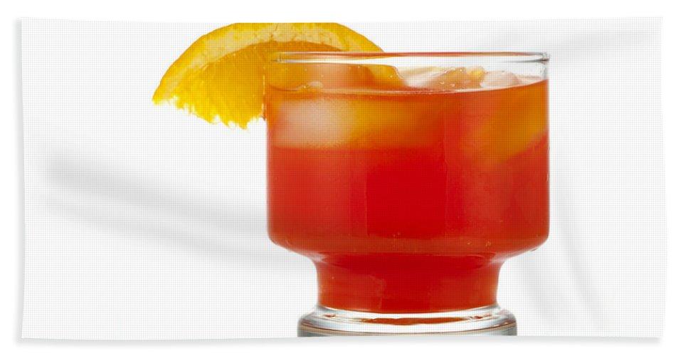 Beverage Bath Sheet featuring the photograph Orange Drink by Juli Scalzi